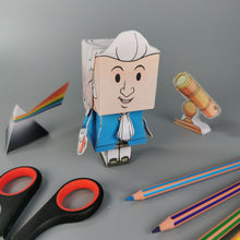 Load image into Gallery viewer, Isaac Newton 3D DIY Mini set {printable}