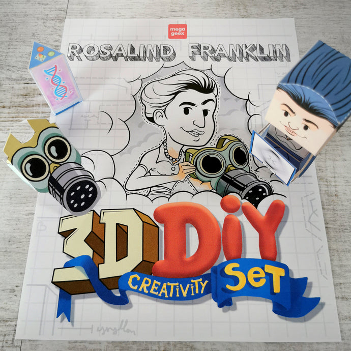 Rosalind Franklin 3D DIY Mini set {printable}