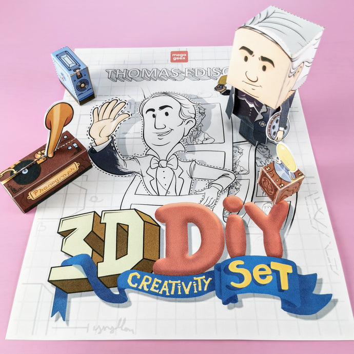 Thomas Edison 3D DIY Mini set {printable}