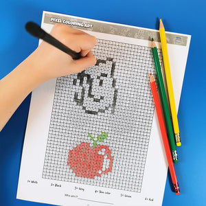 Pixel-Art Coloring Printable Activity Book