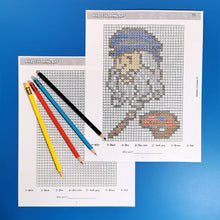 Load image into Gallery viewer, Pixel-Art Coloring Printable Activity Book