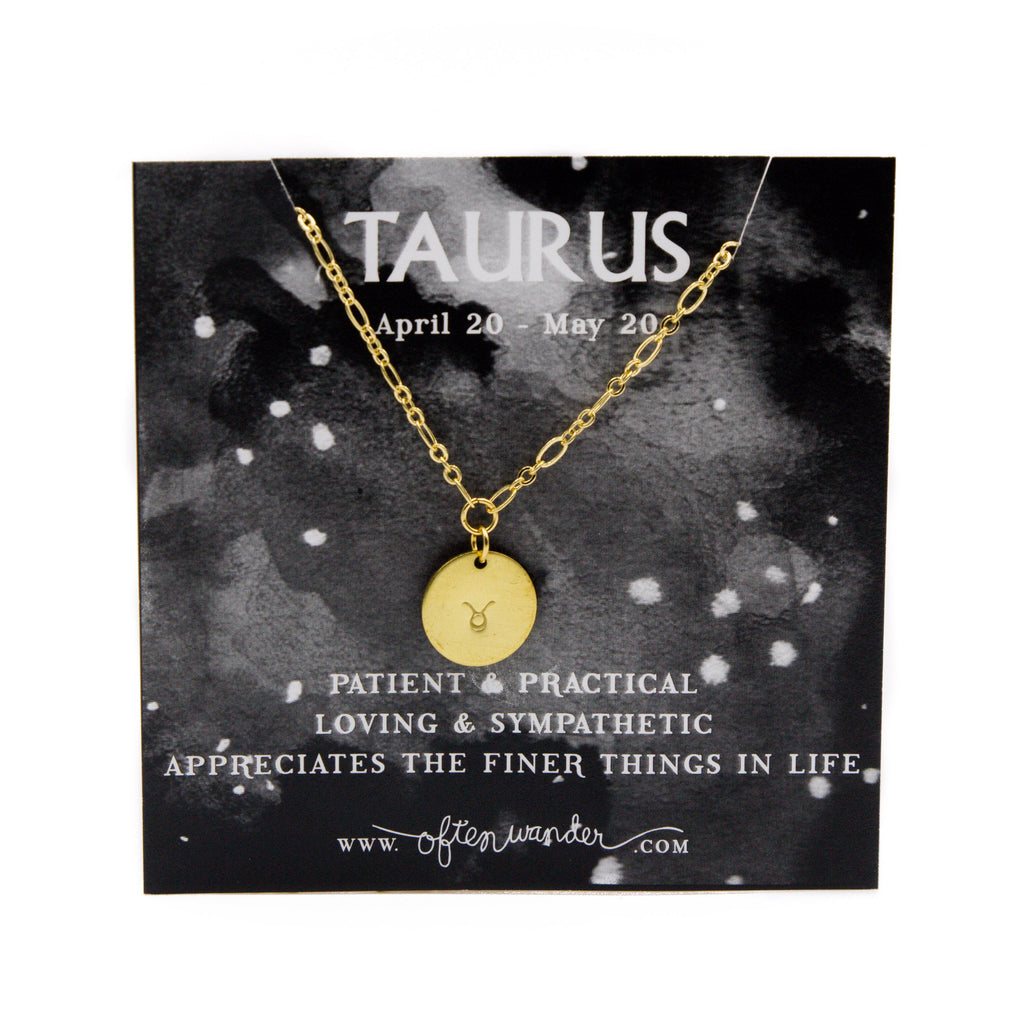 Often Wander - Astrological Necklace - Taurus [APRIL 20 - MAY 20]