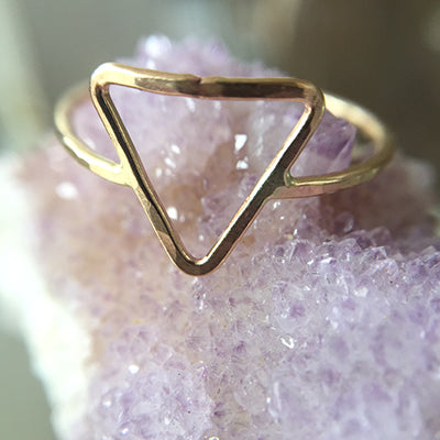 Mineral and Matter - Open Triangle Ring