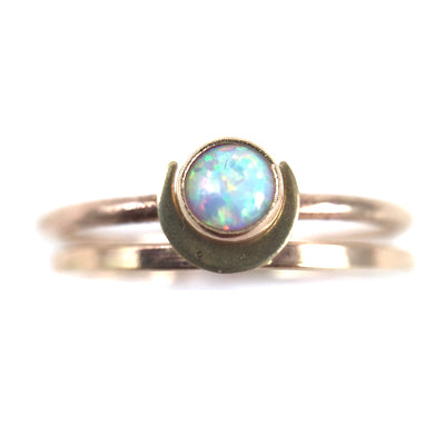 Mineral and Matter - Moon Stacker Ring