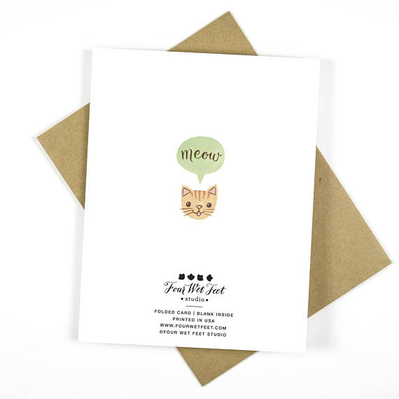 Four Wet Feet Studio - You Are Meowsome - Congrats Greeting Card