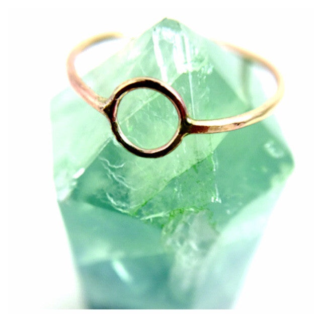 Mineral and Matter - Circle Ring (Goldfill)