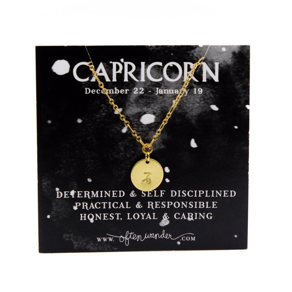 Often Wander - Astrological Necklace - Capricorn [DEC 22 - JAN 19]