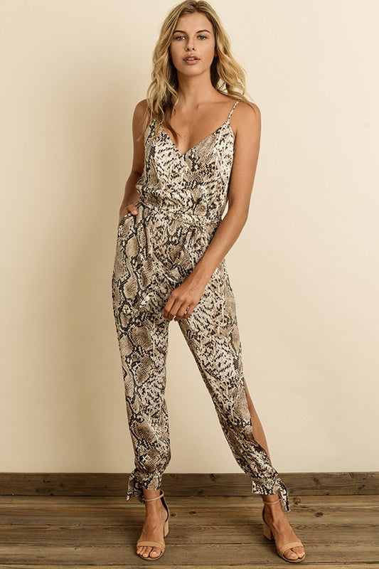 Snakeskin Jumpsuit - Red Fly