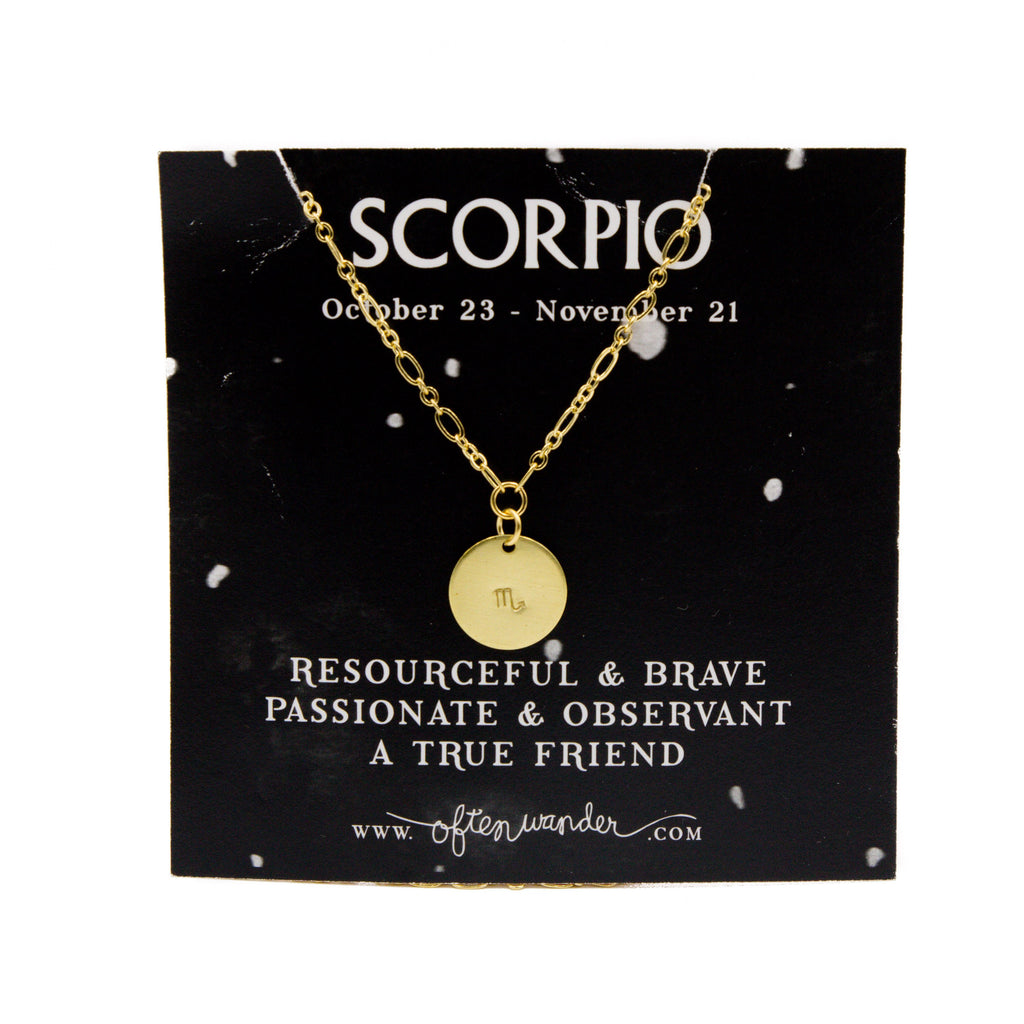 Often Wander - Astrological Necklace - Scorpio [OCT 23 - NOV 21]