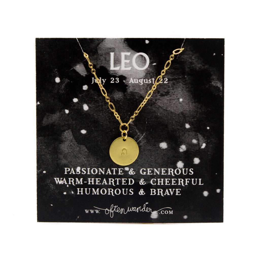 Often Wander - Astrological Necklace - Leo [JULY 23 - AUG 22]