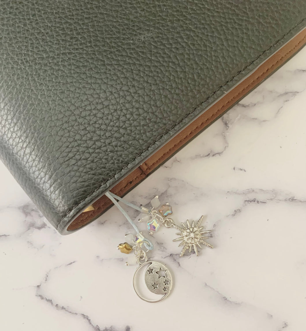 Silver Starburst Planner Tail or Bookmark