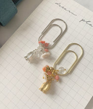 Silver Flower Bloom Dangle Paperclip