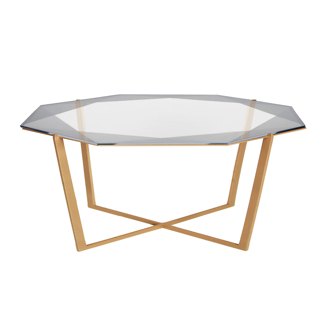 JUST ADDED! Gem Octagonal Coffee Table / Smoke
