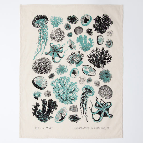 Oceanic Tea Towel - Aloe