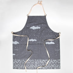 Clouds Apron - Gray