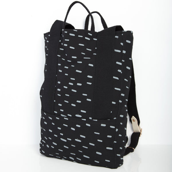 Sideways Rain Backpack - Black