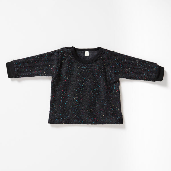 Pebble Knit Sweatshirt Kids - Charcoal