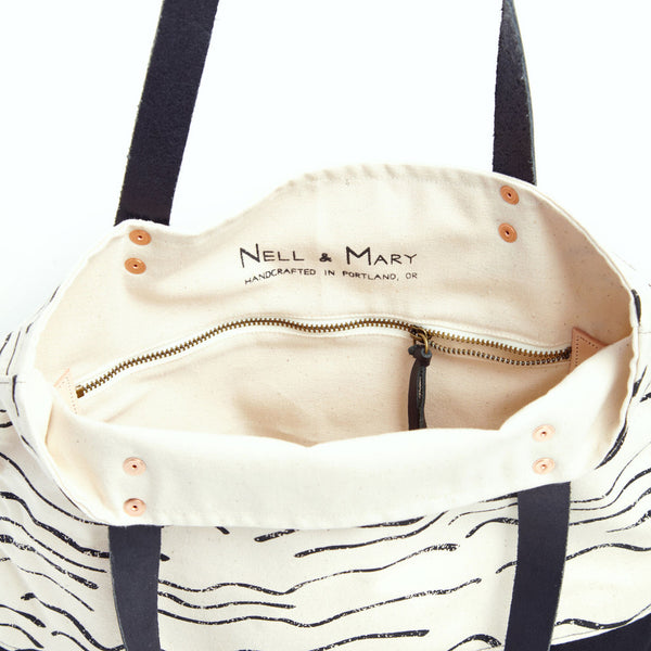 Wave Two Tone Tote - Natural