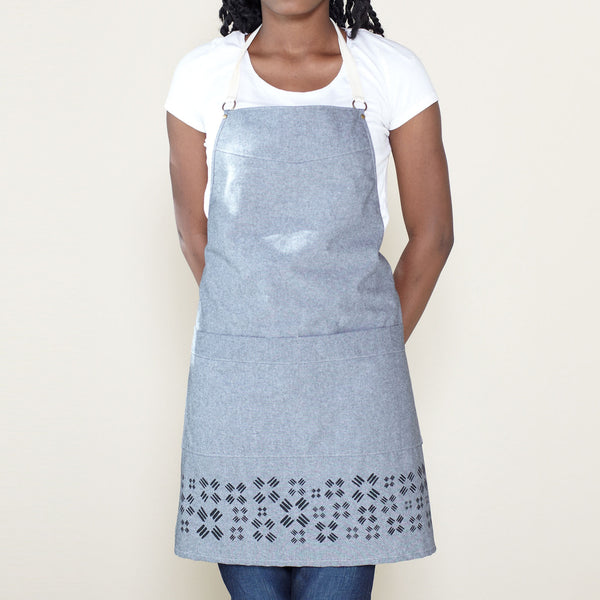 Windmill Kitchen Apron - Gray