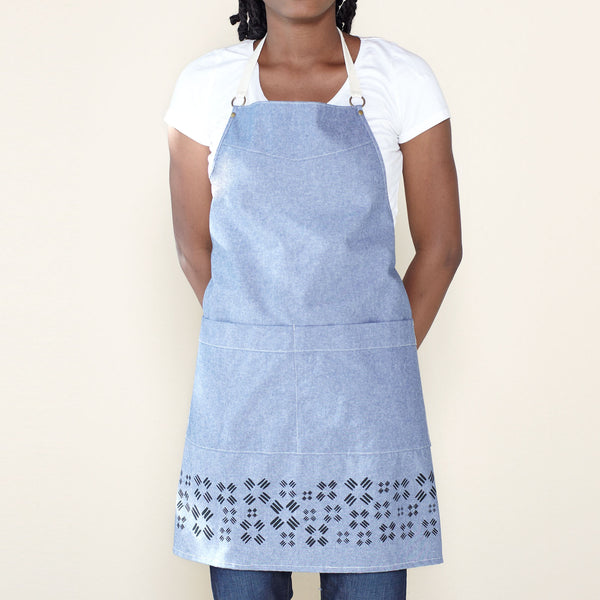 Windmill Kitchen Apron - Indigo