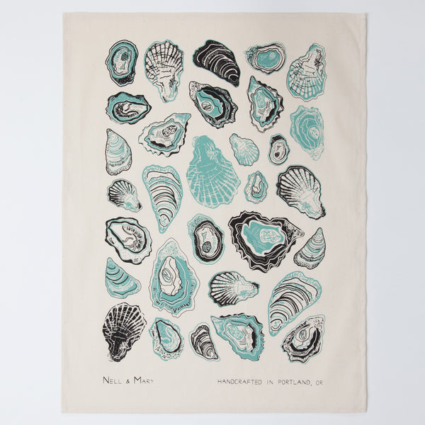 Oyster Tea Towel - Aloe