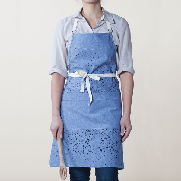 Splatter Kitchen Apron - Indigo