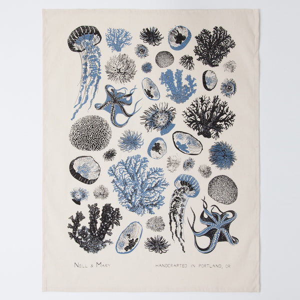 Oceanic Tea Towel - Cobalt