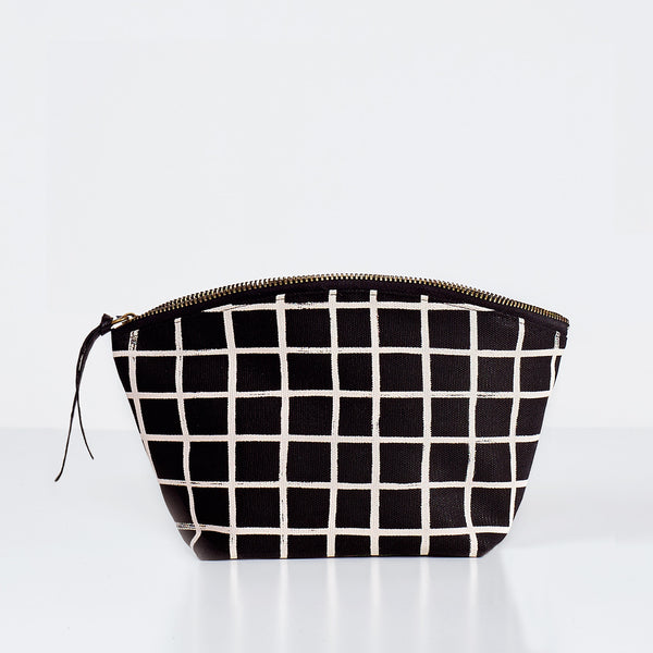 Brush Grid Cosmetic Pouch