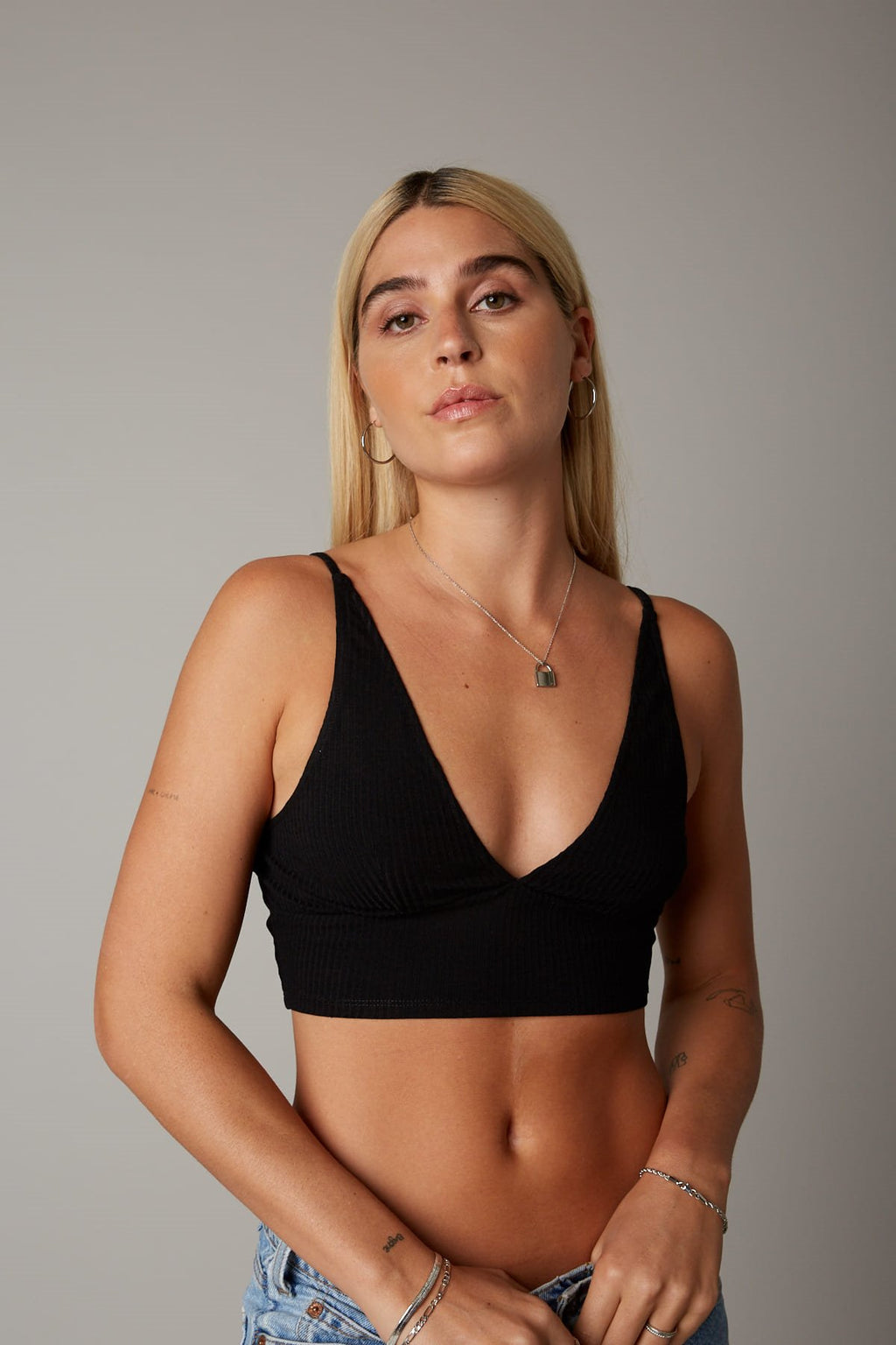 Ribbed Bralette // BLACK - Appelov