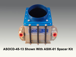 ASOCD-45-13 45 Degree Oil Cooler Duct