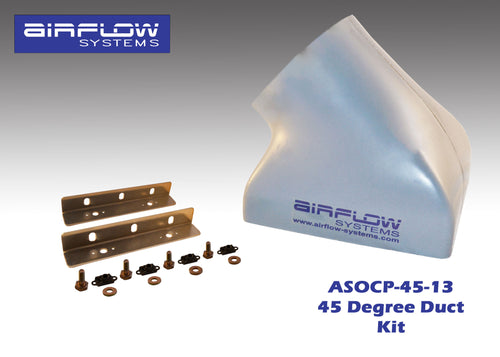 ASOCP-45-13 (45 degree) Oil Cooler Plenum (With Plenum Mounting Kit)