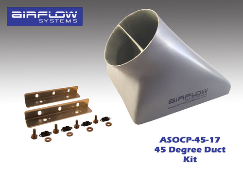 ASOCP-45-17 (45 degree) Oil Cooler Plenum (With Plenum Mounting Kit)