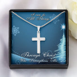 I CAN DO ALL THINGS - Cross Necklace