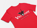 Motivational christian message t-shirt - Victory T-shirt - Premium bold t-shirt design red