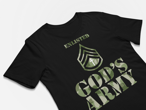 Christian message t-shirt - God's Army T-shirt - Premium t-shirt design black
