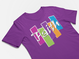 Christian t-shirt - Faith T-shirt - Premium women t-shirt purple