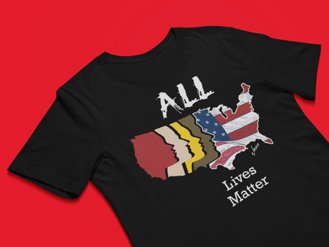 All Lives matter black T-shirt