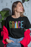 Christian t-shirt - Grace T-shirt - Premium women t-shirt design black model