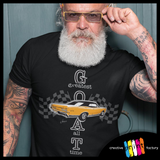Muscle car lover t-shirt - Pontiac GTO - GOAT Muscle Car T-shirt - Premium bold t-shirt design model