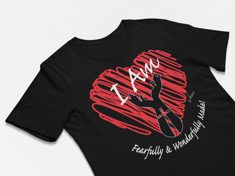 Christian Positive message t-shirt - I Am Fearfully and Wonderfully Made T-shirt - Premium design t-shirt