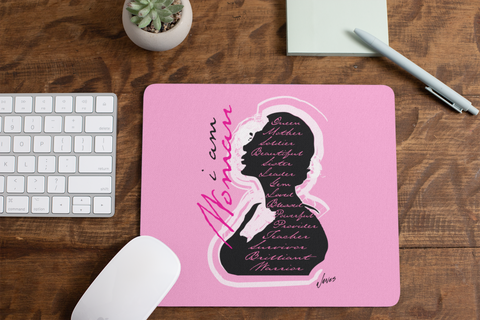 I Am Woman Mouse Pad