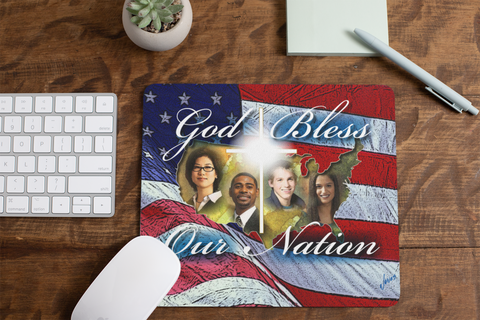 God Bless Our Nation Mouse Pad