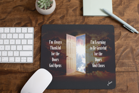 God Opens Doors Mouse Pad