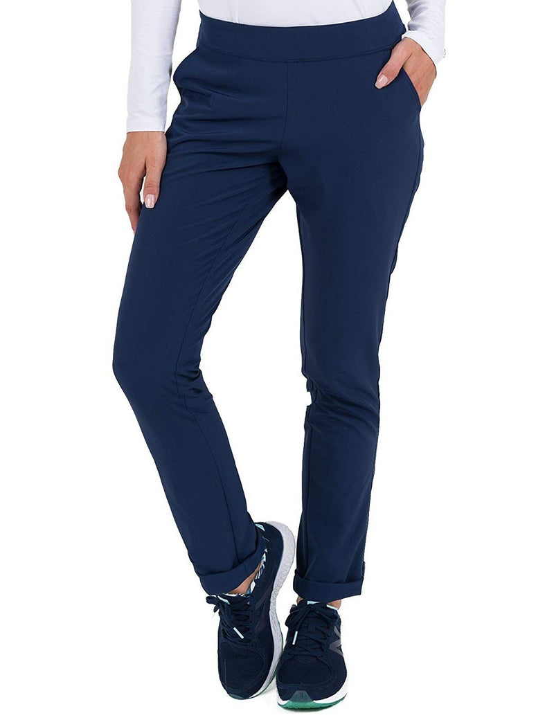 Med Couture 4-EVER Flex Women's Power Skinny Yoga Scrub Pant Navy