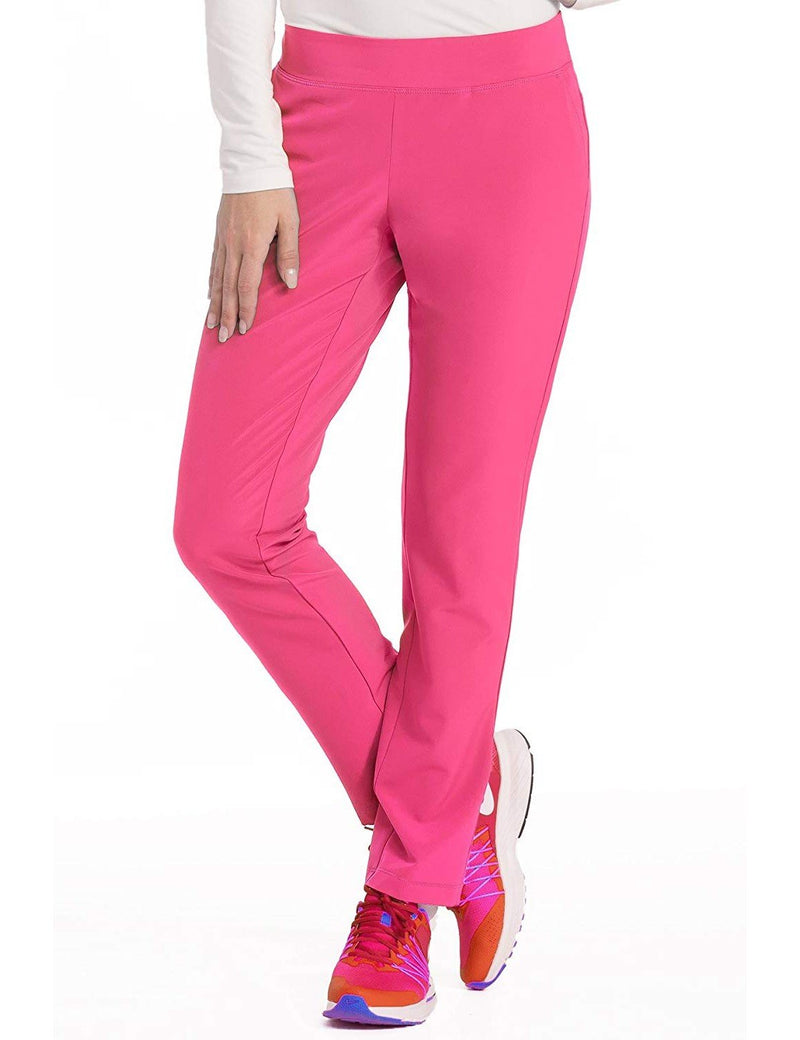 Med Couture 4-EVER Flex Women's Power Skinny Yoga Scrub Pant Pink Lemonade