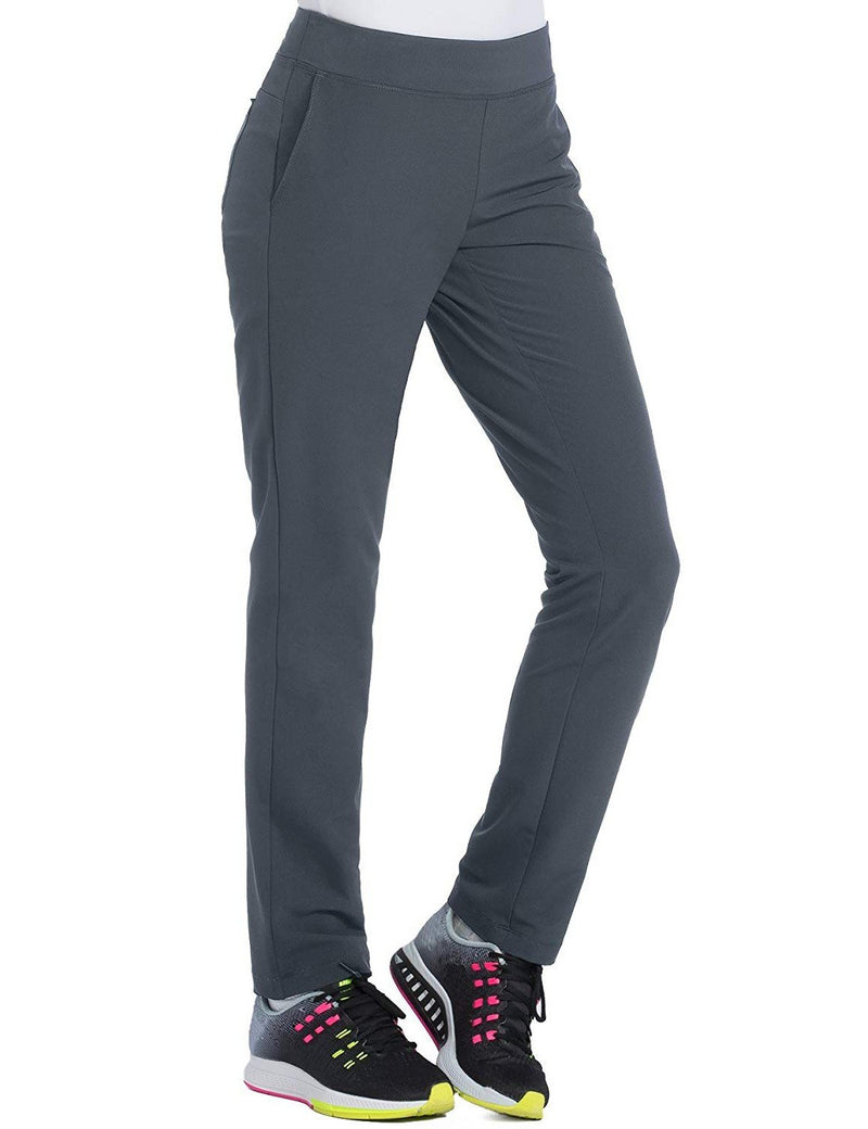Med Couture 4-EVER Flex Women's Power Skinny Yoga Scrub Pant Pewter