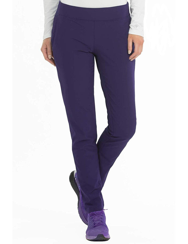 Med Couture 4-EVER Flex Women's Power Skinny Yoga Scrub Pant Plum