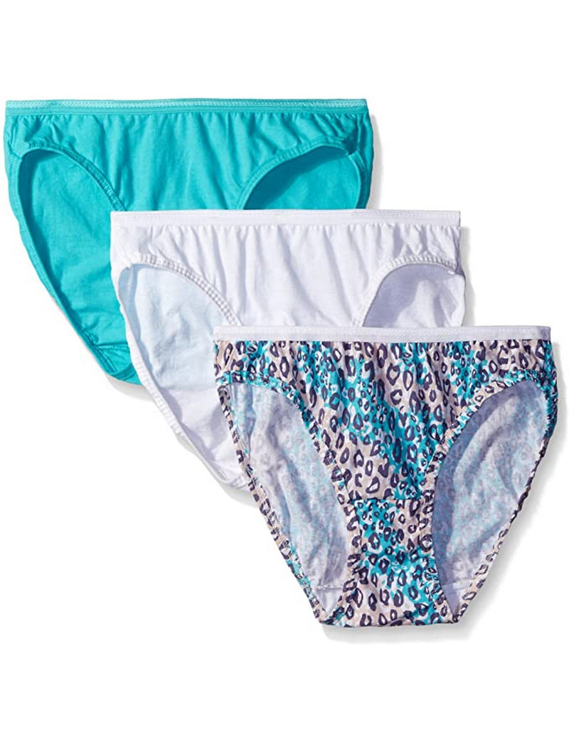 Fruit of the Loom Women's 3 Pack Assorted Cotton Bikini Panties Assorted