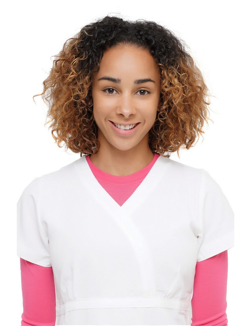 Excel Scrub Top White