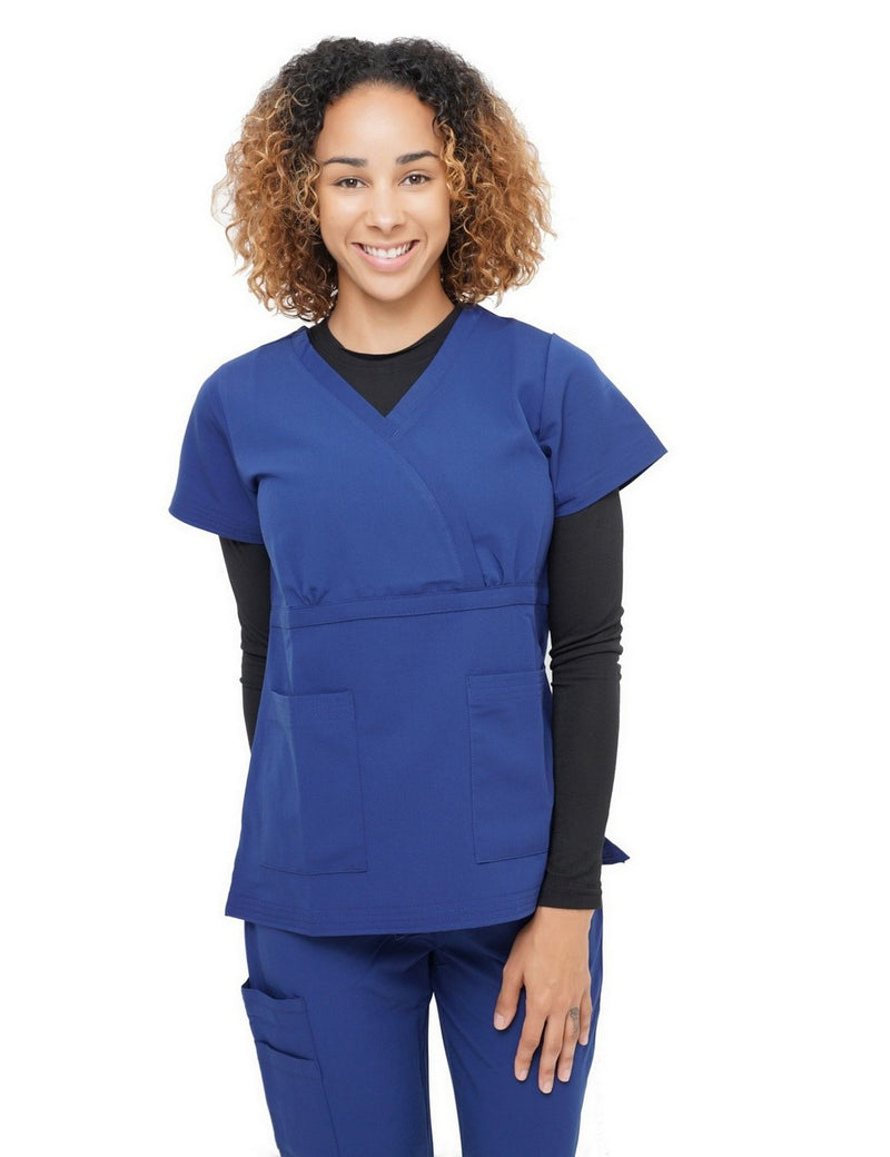 Excel Scrub Top Navy